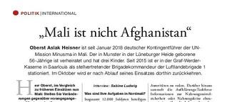 """Mali ist nicht Afghanistan"""