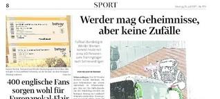 Werder-Trainingslager und -Testspiel