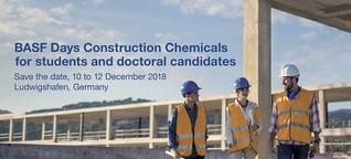 BASF Days Construction Chemicals 2018 – jetzt bewerben!