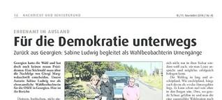 Für die Demokratie unterwegs