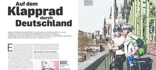 Auf dem Klapprad durch Deutschland