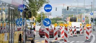 So chaotisch ist der Verkehr auf der Potsdamer Brücke