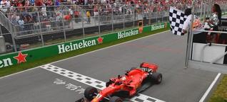 Ein nachdenklicher Vettel und ein unschuldiges Model