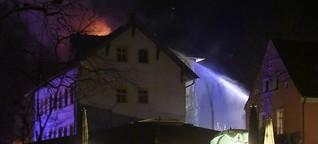 Nach dem Brand in der Turmvilla: Turmvilla nach Brand mit Wärmebildkamera überprüft
