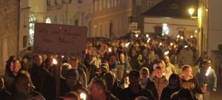Bürger und NPD zusammen gegen Flüchtlinge - Störungsmelder