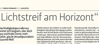 Interview mit Susanne Wolf, Der Österreichische Journalist