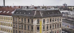 Legale Hausbesetzung - Der Traum vieler Kreativer: kostenlos in Leipzigs leer stehenden Gebäuden wohnen und arbeiten. Doch die Zeit des großen Leerstands ist langsam vorbei. Ein Besuch im Wächterhaus