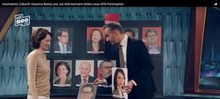 Böhmermann bastelt an neuer SPD-Spitze mit Sanaa Boukayeo