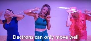Wie wäre es, wenn die Frauen Elektronen darstellen?