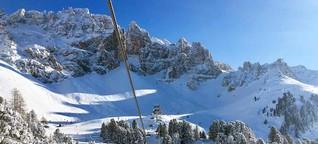 Skigebiet Obereggen in Südtirol. Ein Geheimtipp in den Dolomiten