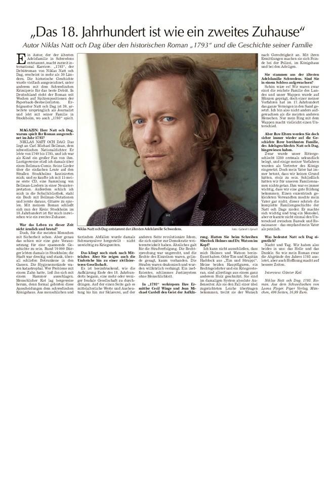 Interview mit Niklas Natt och Dag