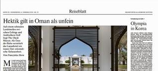 Hektik gilt in Oman als unfein
