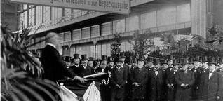 Als Hamburg den Hauptbahnhof bekam: Bei der Eröffnung standen Palmen in der Wandelhalle