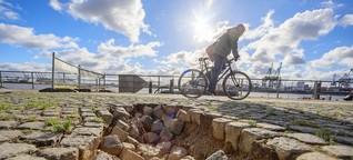 Abgesackte Elbpromenade bleibt vier Jahre lang gesperrt