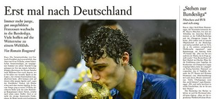 Erst mal nach Deutschland