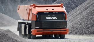 Scania: 50 Tonnen Steine und kein Fahrer