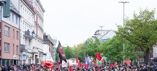 Eindrücke der 1. Mai-Demos in Hamburg | FINK.HAMBURG