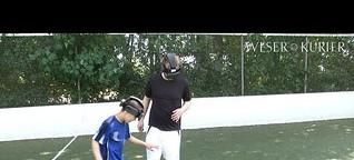 Blindenfußball im Selbstversuch