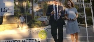 Tag antisémite sur une affiche du DP