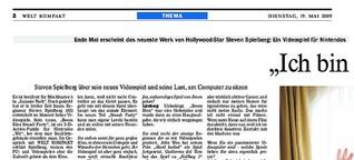 """Steven Spielberg: """"Ich bin ein Gamer!"""""""