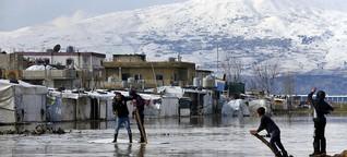 Syrische Flüchtlinge im Libanon: Nach dem Sturm