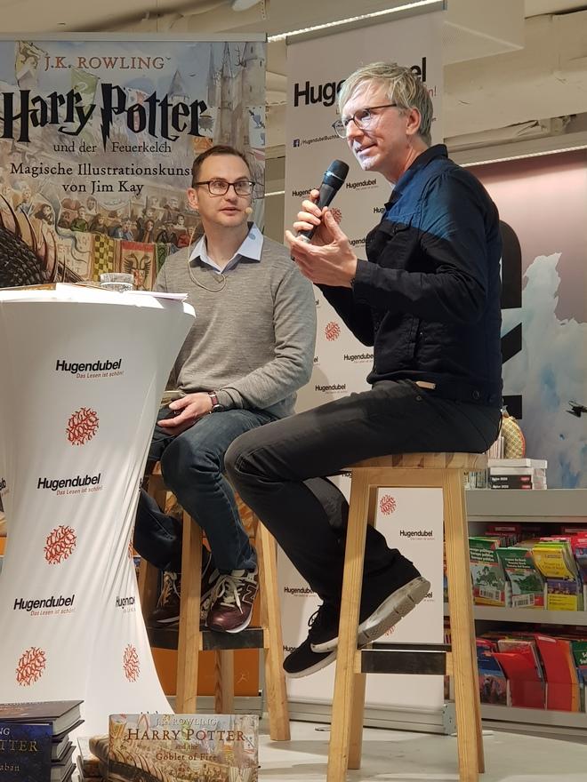 Moderation mit Harry-Potter-Illustrator Jim Kay
