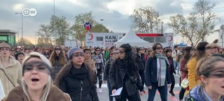 Women in Istanbul protest against violence and femicide   DW   09.12.2019