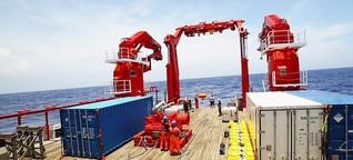 """Forschungsschiff """"Sonne"""" : Ein Mess-Trichter geht auf Tauchstation / gut zu wissen - BR"""