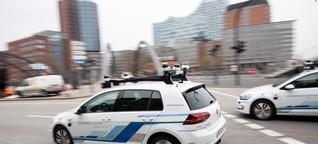 Farbfleck stört selbstfahrende Autos / KI unterliegt quasi optischer Täuschung - nano, 3sat