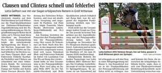 Lotta Gellhorn erfolgreichste Reiterin