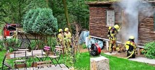 Waldbrandgefahr: Feuerwehr probt den Ernstfall im Lokal Waldwinkel