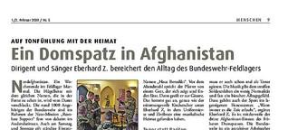 Ein Domspatz in Afghanistan