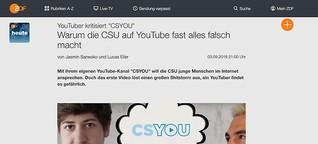 """Kritik am CSU-Kanal """"CSYOU"""": """"Mit vielen Halbwahrheiten Stimmung gemacht"""""""