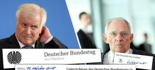 Seehofer hat den Bundestag übergangen, zeigen diese exklusiven Dokumente