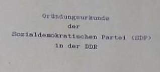 30 Jahre Gründung der Sozialdemokratischen Partei der DDR