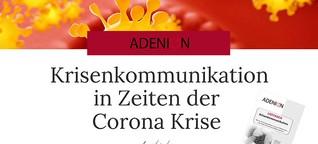 Krisenkommunikation in Zeiten der COVID-19 Krise | Adenion Blog