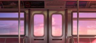 Die Welt mit Abperl-Effekt, rosa-geschockt