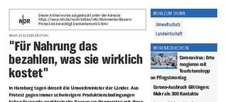 Kommentar Bauernprotest - NDR info