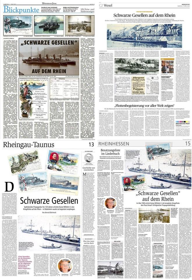 Buchvermarkung in Zeitungen