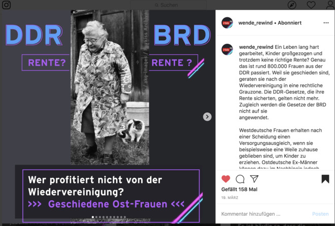 wende_rewind (rbb): DDR-Frauen nach der Wende: Trotz Arbeit kaum Rente