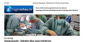 Bundestag berät Gesetzentwürfe zur Organspende