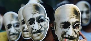 150. Geburtstag von Mahatma Gandhi - Verehrt wie ein Gott