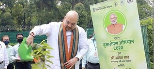 Amit Shah launches Vriksharopan Abhiyan in New Delhi today.