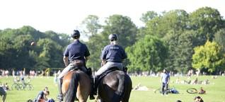 Polizei setzt Reiterstaffel am Karlsfelder See ein