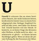 U – Unseld