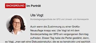 Background Im Porträt: Ute Vogt