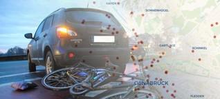 Alle Unfälle auf einer Karte: Wo es in und um Osnabrück am häufigsten kracht