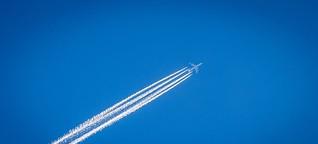 Veränderung der Flughöhe macht Fliegen umweltfreundlicher