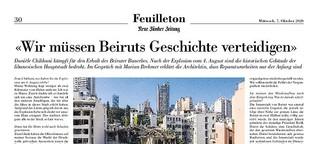 """NZZ: """"Wir müssen Beiruts Geschichte verteidigen"""""""