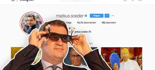 So spielt Markus Söder mit Instagram